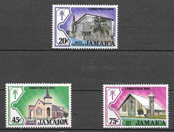 enviar paquetes desde - valor sellos navidad Jamaica 1982