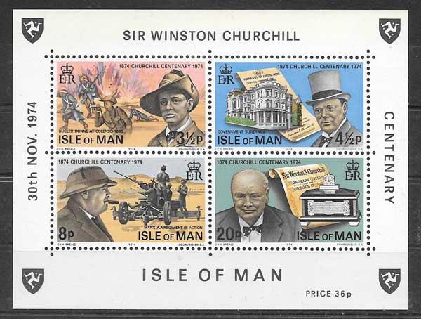 Filatelia Sir Winston Churchill 1974