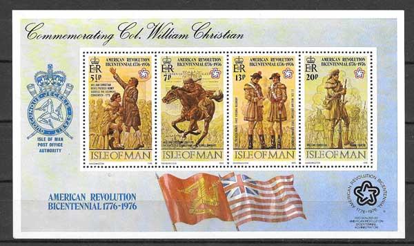 valor y precio Colección sellos Coronel Willian Christian 1976