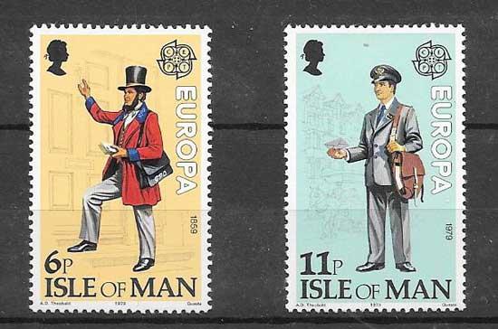 enviar paquetes desde - valor sellos Tema Europa 1979