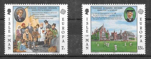 enviar paquetes desde - valor sellos Tema Europa 1980