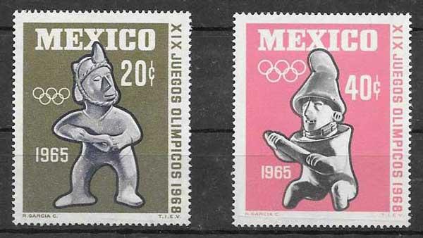 enviar paquetes desde - valor sellos olimpiadas México 1965