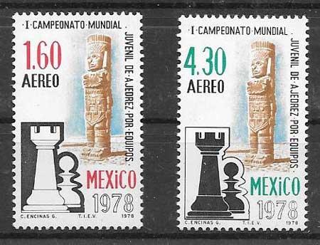 Filatelia ajedrez México 1978