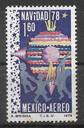 enviar paquetes desde - valor sellos colección navidad México 1978