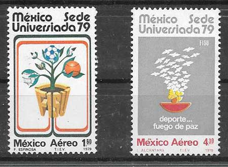 enviar paquetes desde - valor sellos colección deporte México 1979