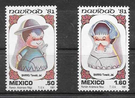 enviar paquetes desde - valor sellos colección navidad México 1981