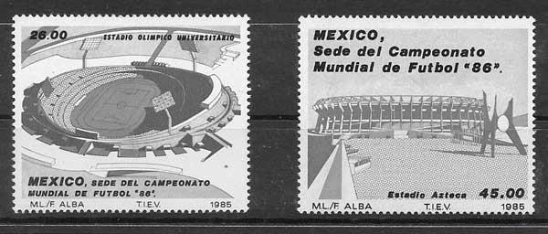 enviar paquetes desde - valor sellos colección fútbol México 1985