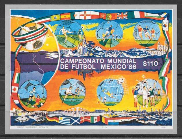 valor y precio Colección sellos México fútbol 1986