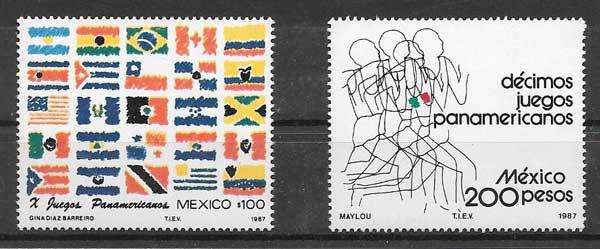valor y precio Colección sellos deporte 1987