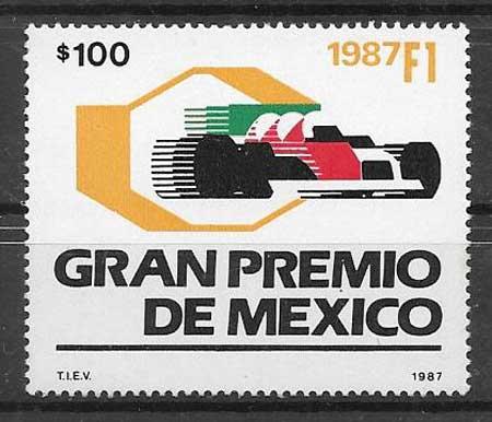 enviar paquetes desde - valor sellos deporte México 1987