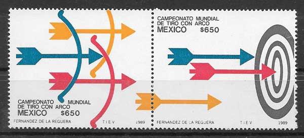 Filatelia deporte México 1989
