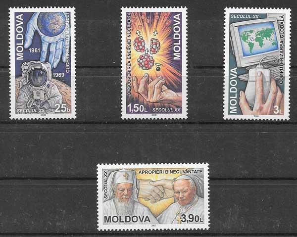 enviar paquetes desde - valor sellos personajes Moldavia 2000