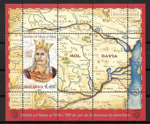 enviar paquetes desde - valor sellos personajes Moldavia 2004