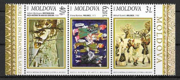 enviar paquetes desde - valor sellos navidad Moldavia 2006