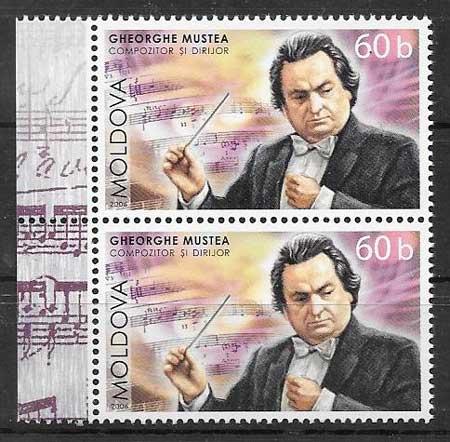 enviar paquetes desde - valor sellos personajes Moldavia 2006