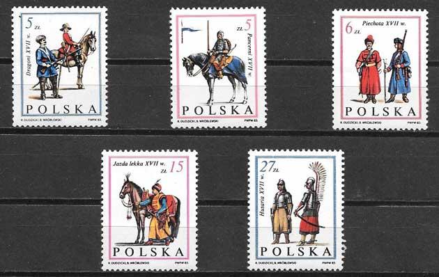 enviar paquetes desde - valor sellos militares Polonia 1983