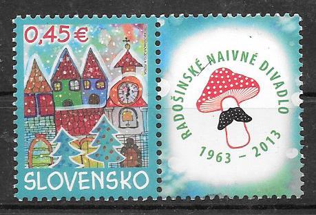 enviar paquetes desde - valor sellos colección navidad Eslovaquia 2013