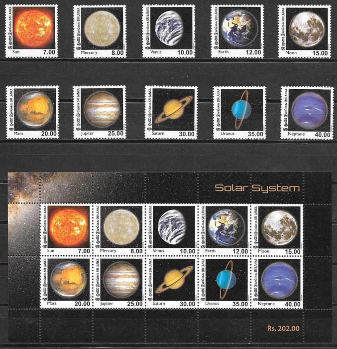valor y precio Colección sellos espacio Sri Lanka