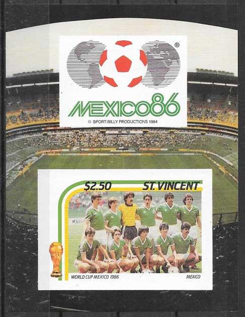 valor y precio Colección sellos Saint Vincent 1986 deporte