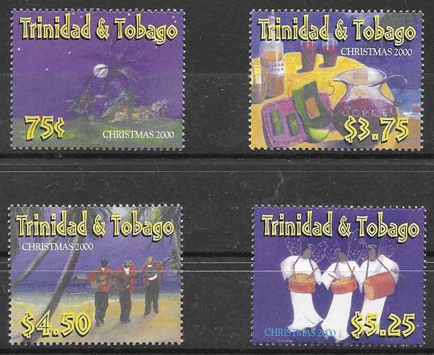 enviar paquetes desde - valor sellos navidad Trinidad y Tobago 2000