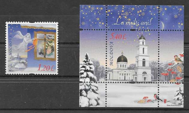 Filatelia navidad 2010 Moldavia