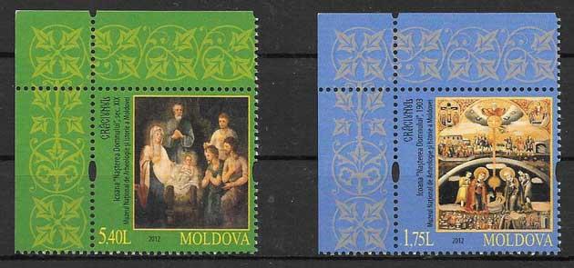 comprar Estampillas navidad 2012 Moldavia