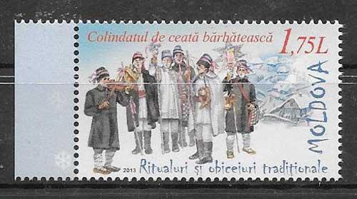 comprar Estampillas navidad Moldavia 2013