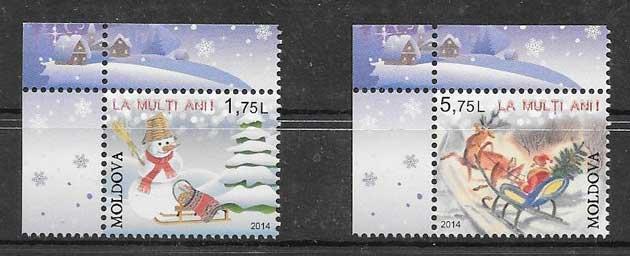 valor y precio Colección sellos navidad 2014