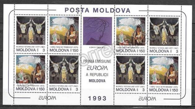 enviar paquetes desde - valor sellos colección tema Europa Moldavia 1993